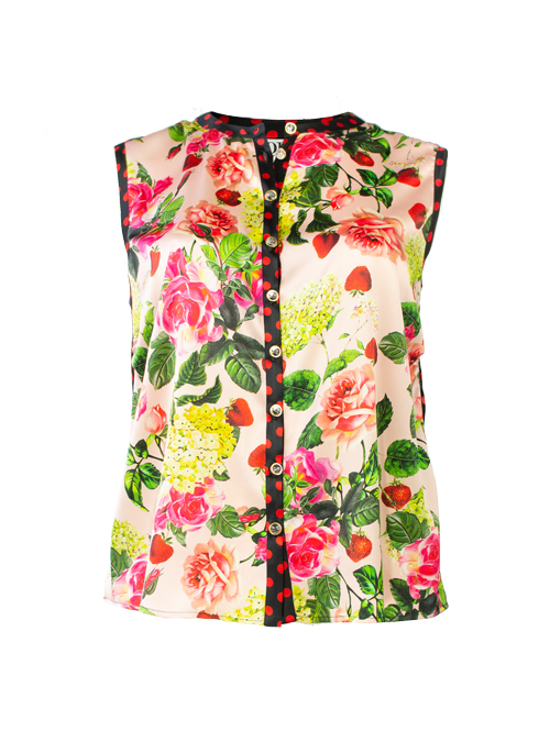 Blouse Statement Sleeveless, Eves Garden