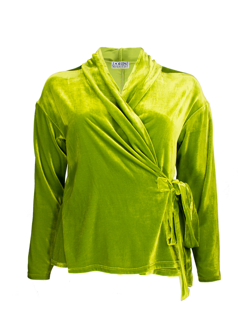 Velvet Layer Wrap, Lime Green