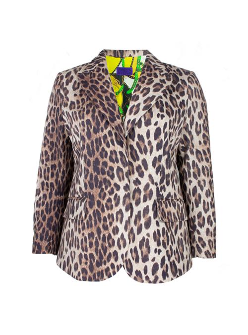 Atelier Blazer, Tailored, Leopard