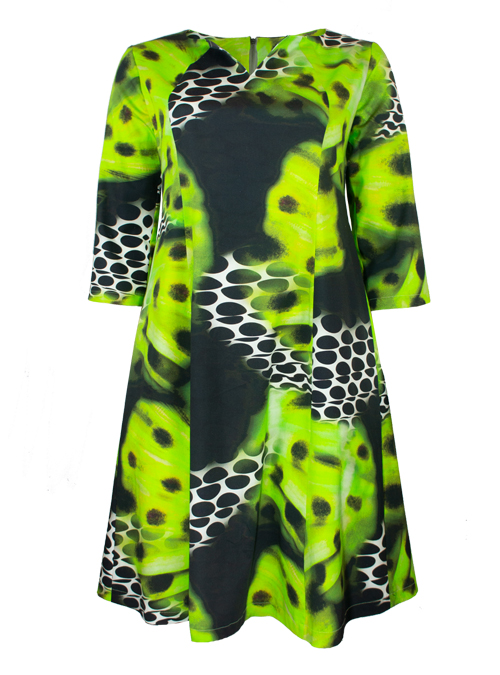 Feminin Dress, Mesmerizing Green