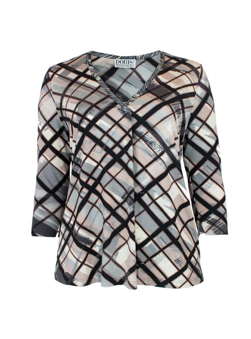 Pull-on Shirt, V-Neck, Modern Graphic