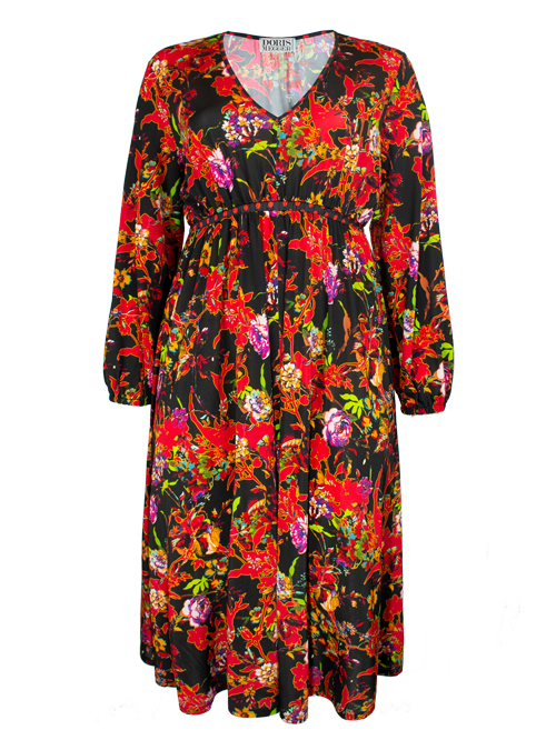 Victoria Dress, Fire Flower, Jersey