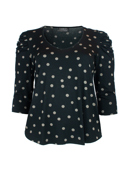 Ruffle Sleeve Shirt, Senza una donna