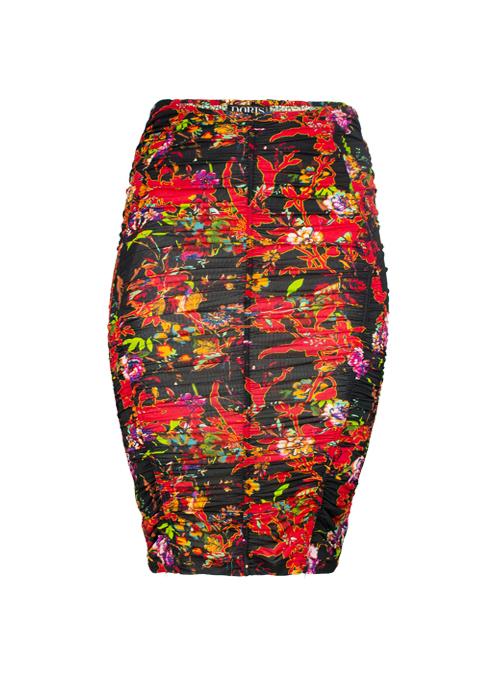 Skirt Kurvenwunder, Scarlet, Fire Flower