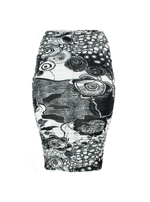 Skirt Kurvenwunder, Black and White Contraste