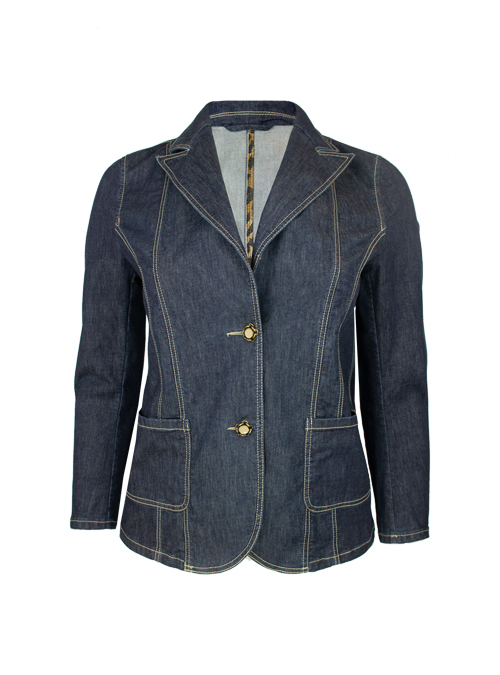 Tailored Denim Blazer, Soft washed