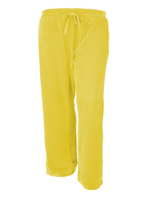 Velvet Pants, Wide Leg, Macaroon