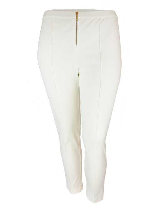 Cigarillo Pants, Panna Almond, Front Zip