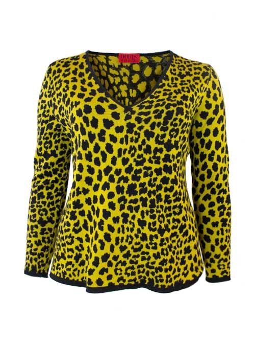 Cashmere Silk Pullover, Leo Jaquard, Amber Black