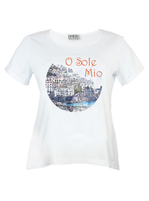 Doris Statement Shirt, O sole mio, White