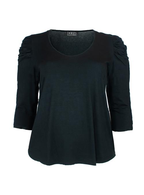 Ruffle Sleeve Shirt, Perfect Black