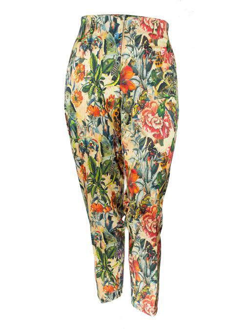 Presto Pants, High Waisted Cigarette Cut, Florale
