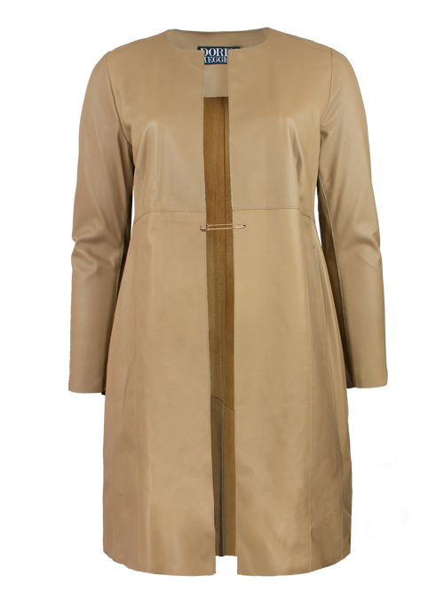 The Allrounder, Soft Leather Coat, Sabbia