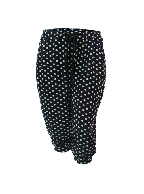 Cool Pants, Black and Blurry Dots