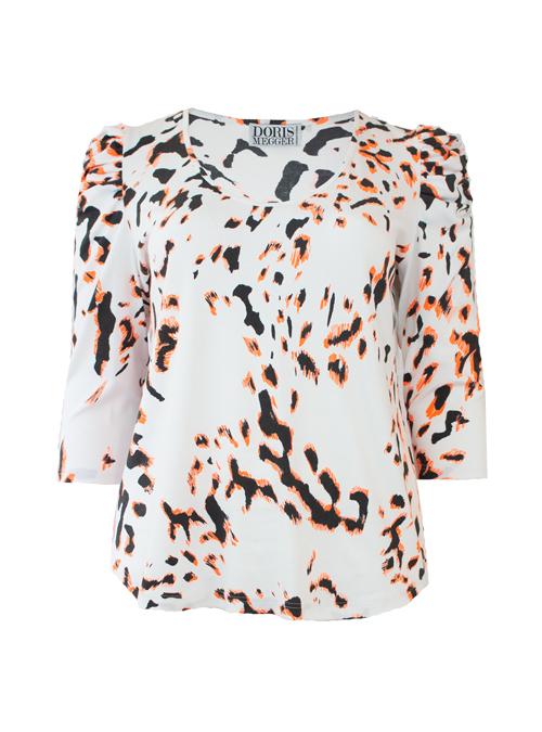 Ruffle Sleeve Shirt, Wild white