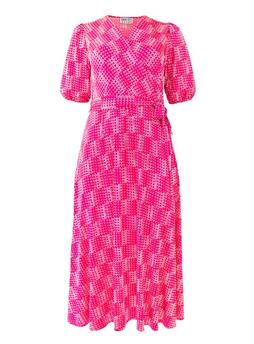 Riva Dress, Dramatic Sleeve, Modern Times Magenta