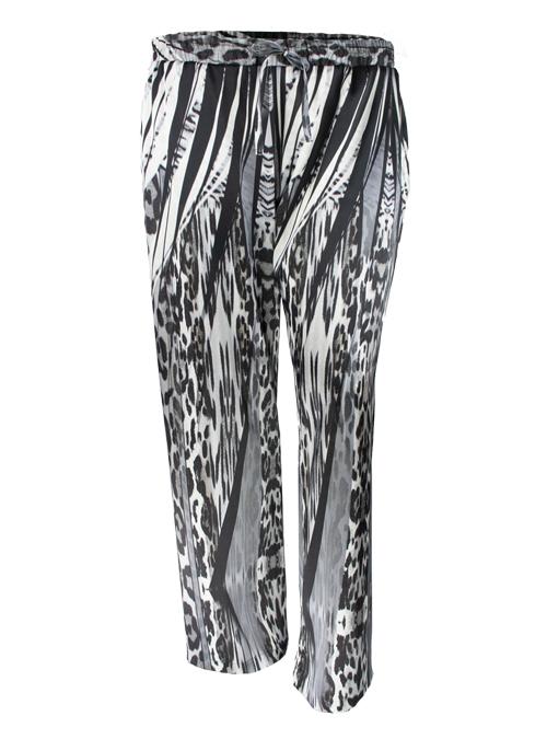 Silk Pants, Smoky Leopard, Wide Leg