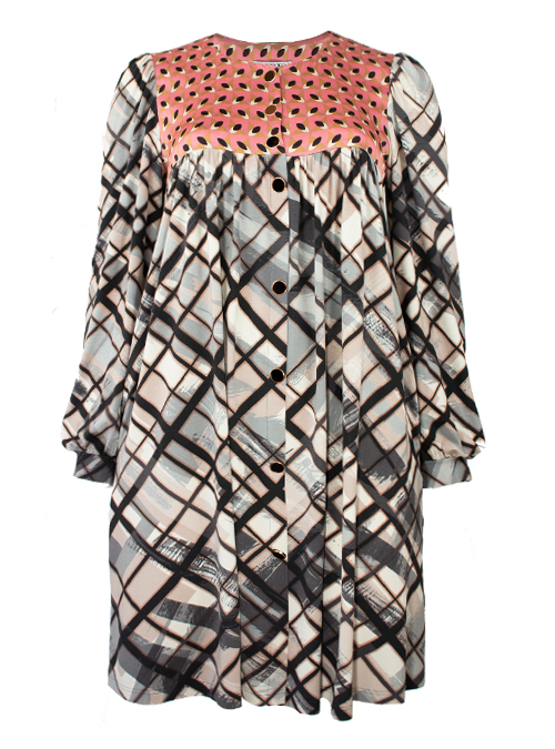 Dress le Chemisier, Verbania, Silk and Jersey