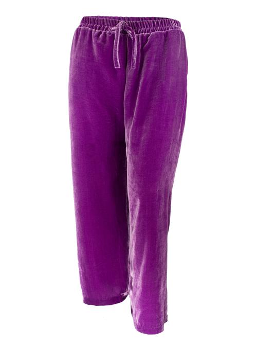 Velvet Pants, Wide Leg, Amethyst Lilac