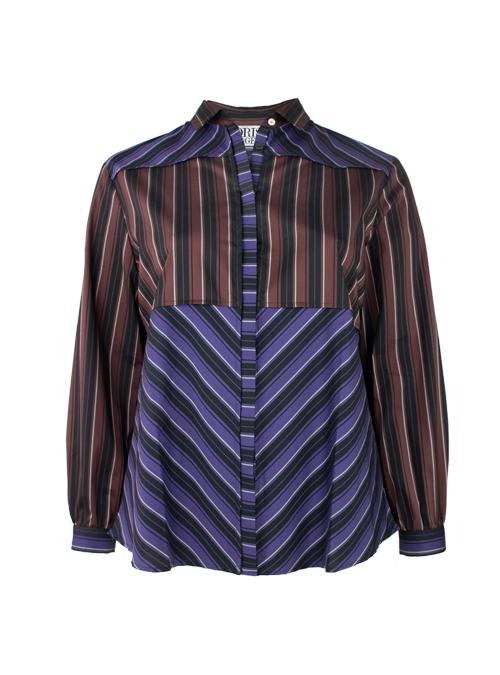 Element Blouse, Cotton, Two colored Stripes