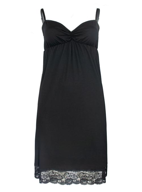 Lingerie Dress, Sensual Black, Jersey