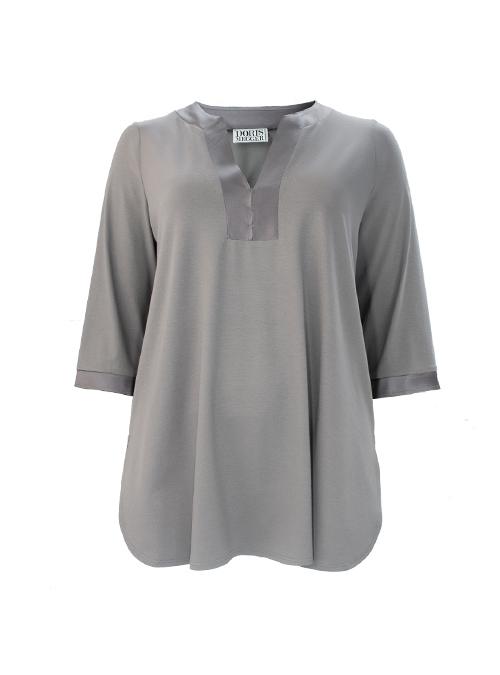 Tunique de Luxe, Ton sur Ton, Neutral Grey