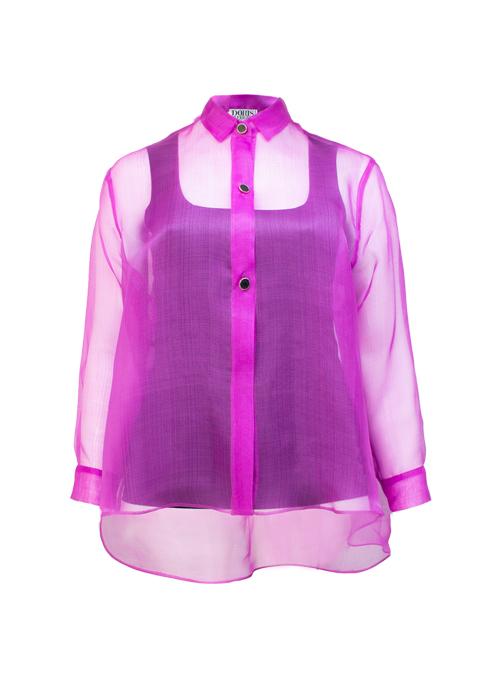New Silhouette Blouse, Pink Serenade, Silk