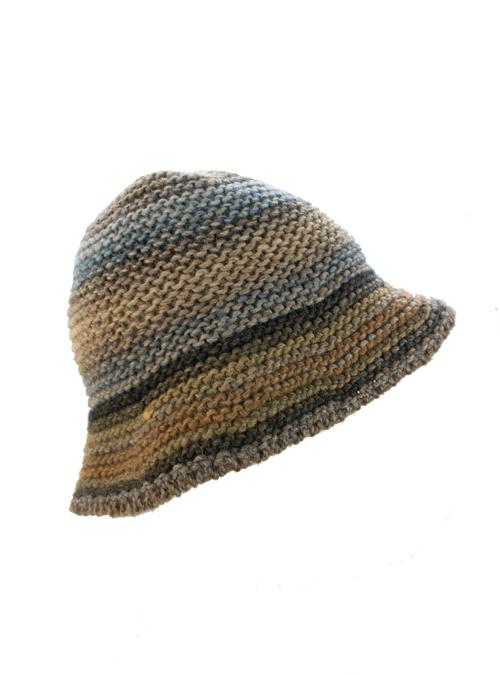 Knit Hat, Lana Wool, Amber