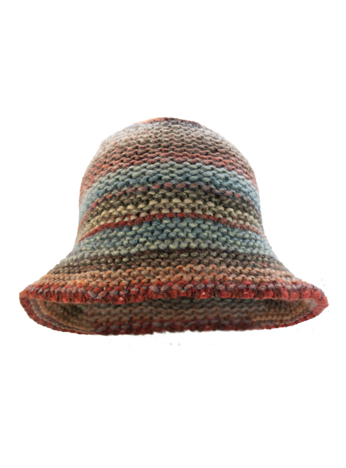 Knit Hat, Lana Wool, Auburn