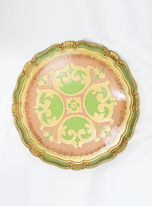 Palazzo Pitti Tray, Soft Green, Circular