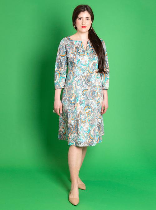 Feminin Dress, Paisley inspired