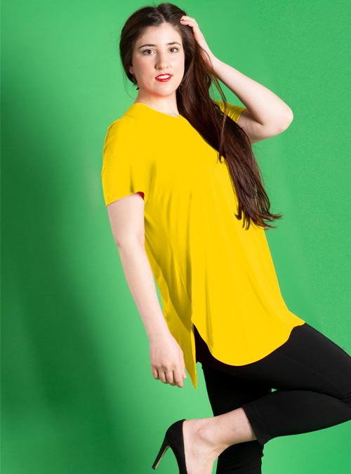 Long Basic Shirt, Lemon