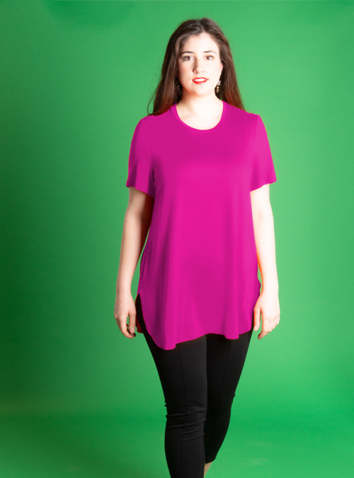 Long Basic Shirt, Magenta