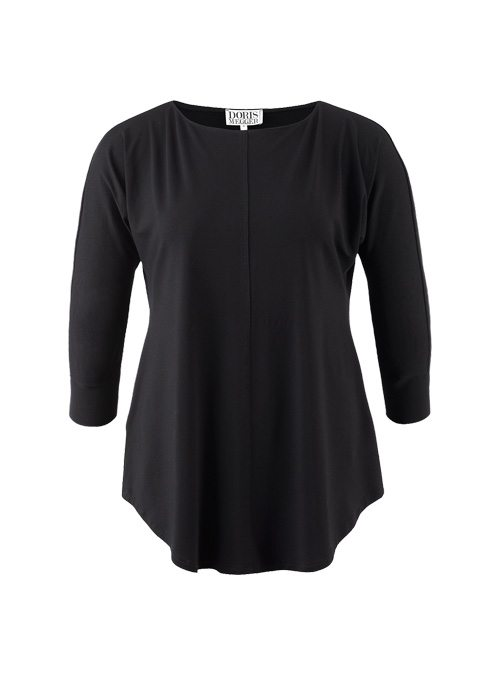 Boatneck Shirt, Long Sleeved Edition, Back in black