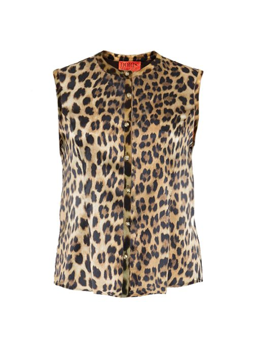 Blouse Statement Sleeveless, Cougar Style