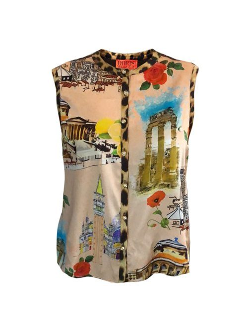 Blouse Statement Sleeveless, Tour du monde
